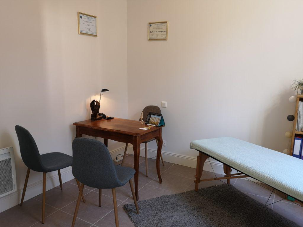 Cabinet d'ostéopathie de Marion Séclin, le bureau