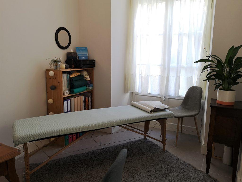 Cabinet d'ostéopathie de Marion Séclin, la table de pratique